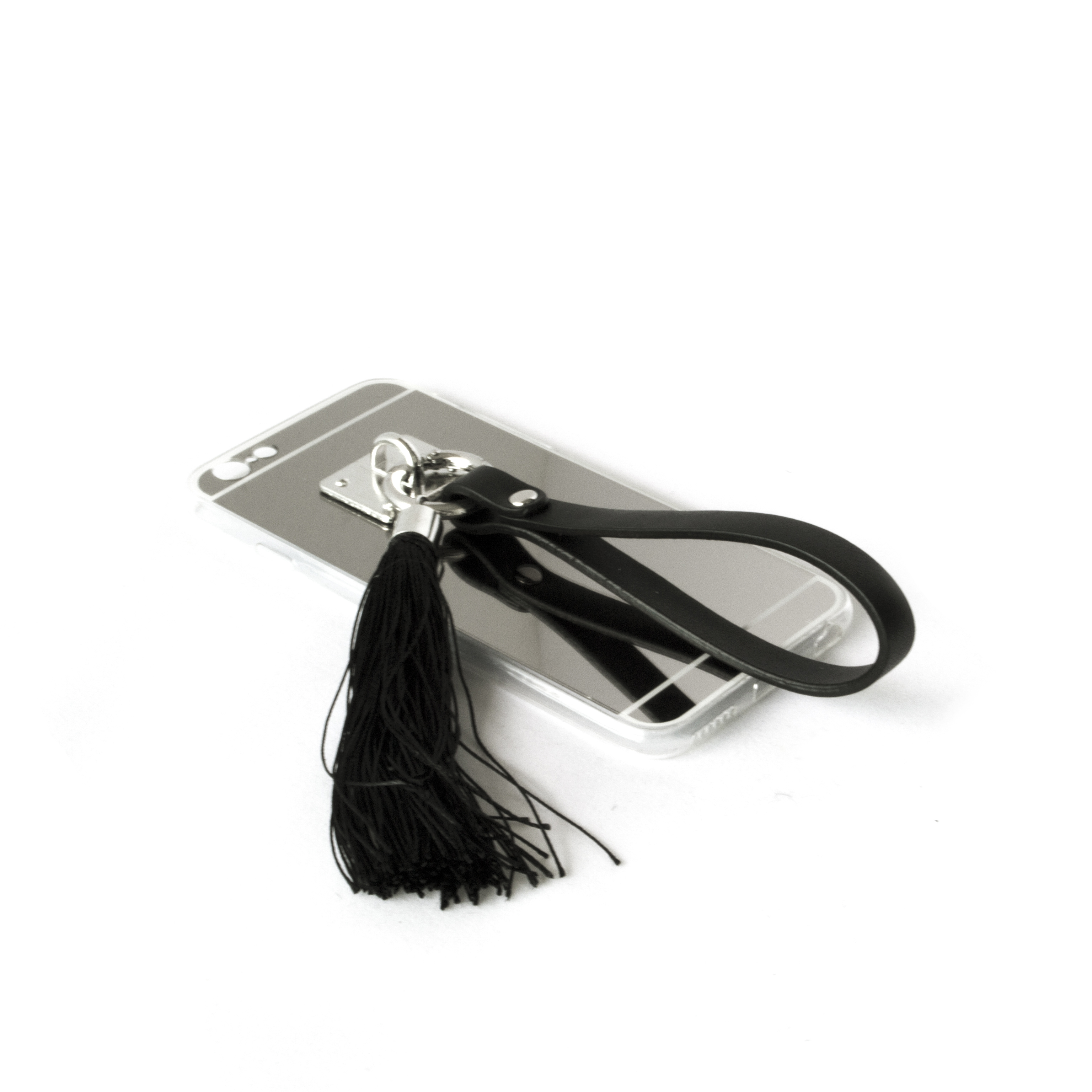 Manacle Tassel Case - Reflective Silver Mirror